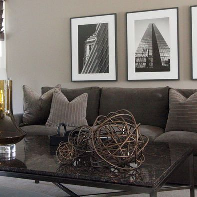Dark Taupe Accent Wall Design Ideas Pictures Remodel And Decor Brown Living Room Decor Living Room Grey Dark Brown Couch Living Room