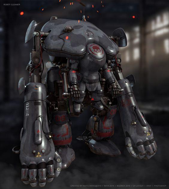 ArtStation - Fan Art: Robot Modeling&Texture Study, Kaiyu Wang: