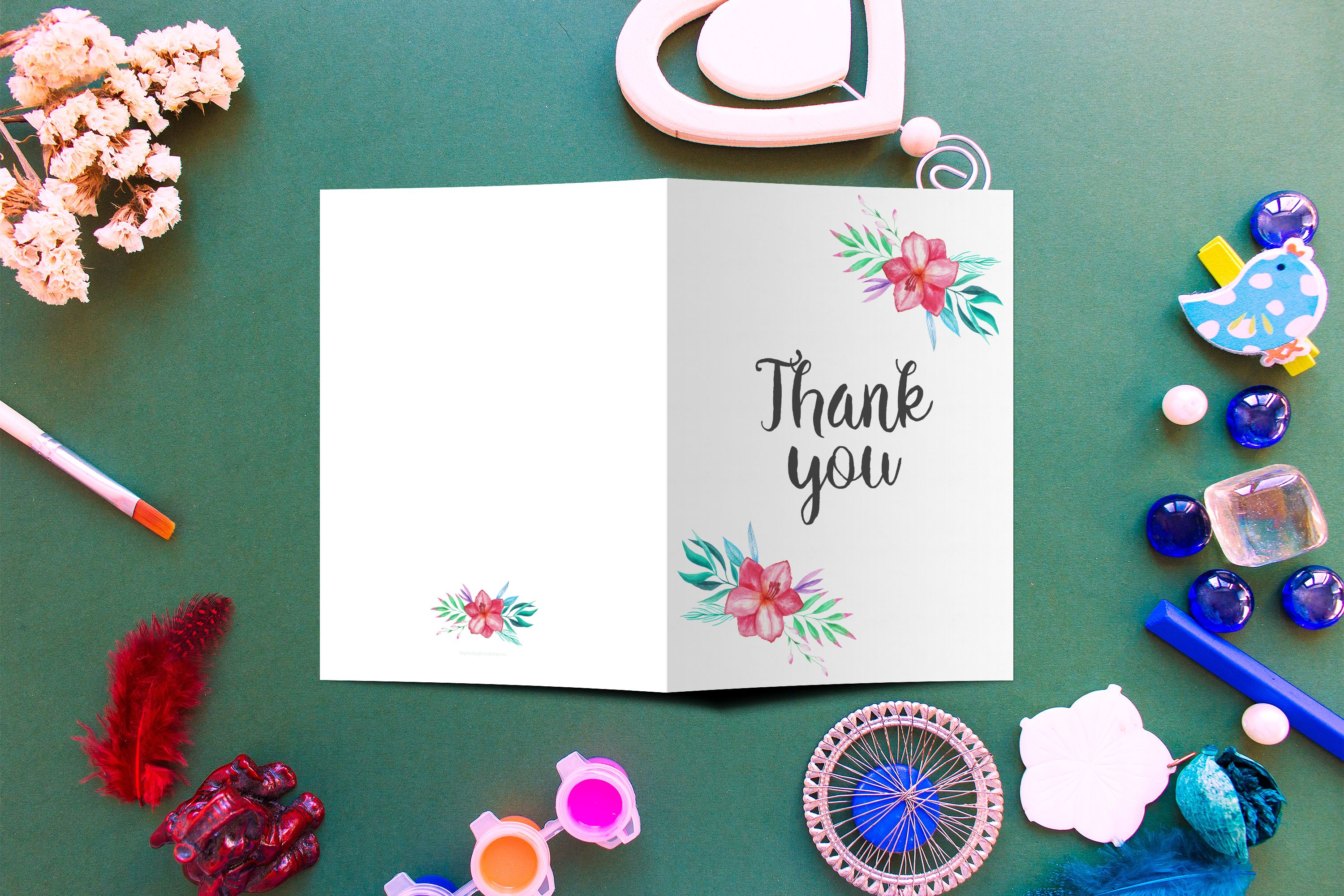 6 pack of thank you cards in english and spanish totaling