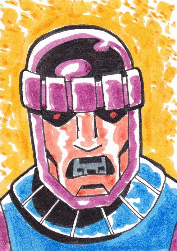 """Centinela de X-Men ACEO trading card 2 1/2 """"x 3 1/2"""""""