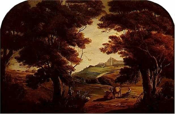 """""""Vista da Penha de França, 1857."""" - 1857, óleo s/ tela, Tomás d'Anunciação"""