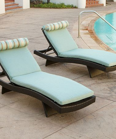 Another great find on #zulily! Bliss Blue Wave Chaise Lounge - Set of Two #zulilyfinds