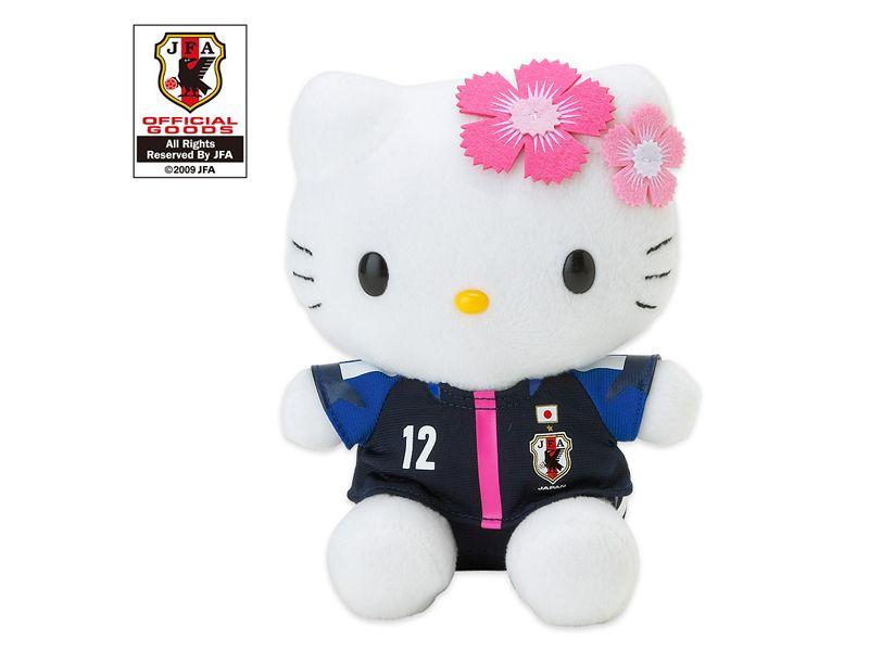 Hello Kitty x Nadeshiko Japan Women's Football Soccer Medium Plush Doll JFA