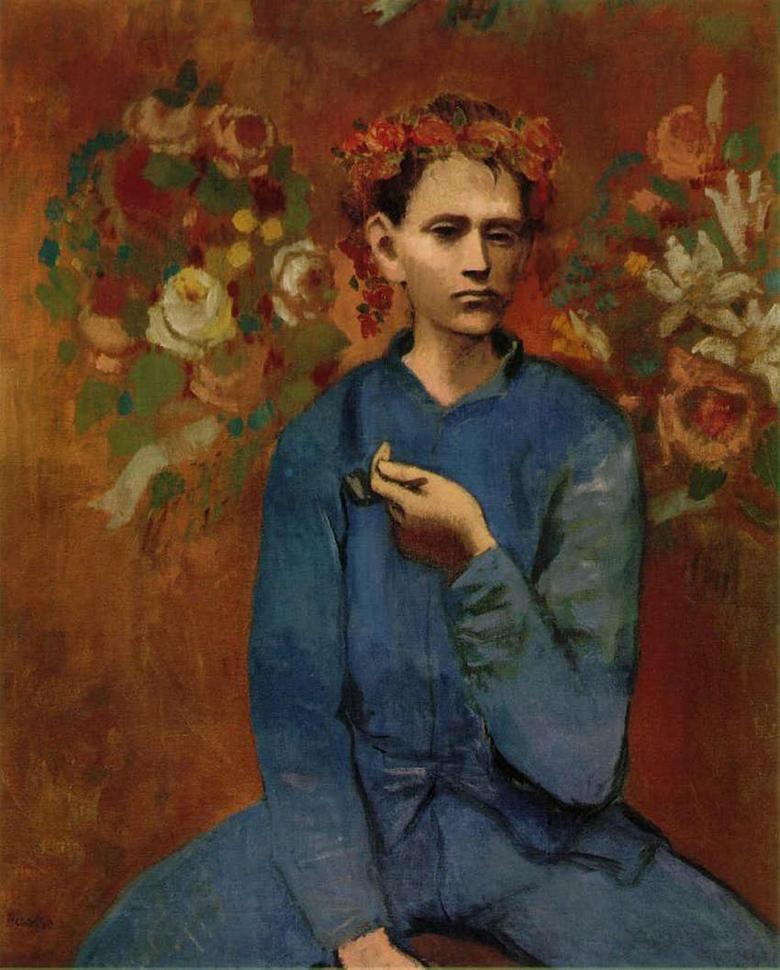 Ritratto di un ragazzo con la pipa di Pablo Picasso 1905