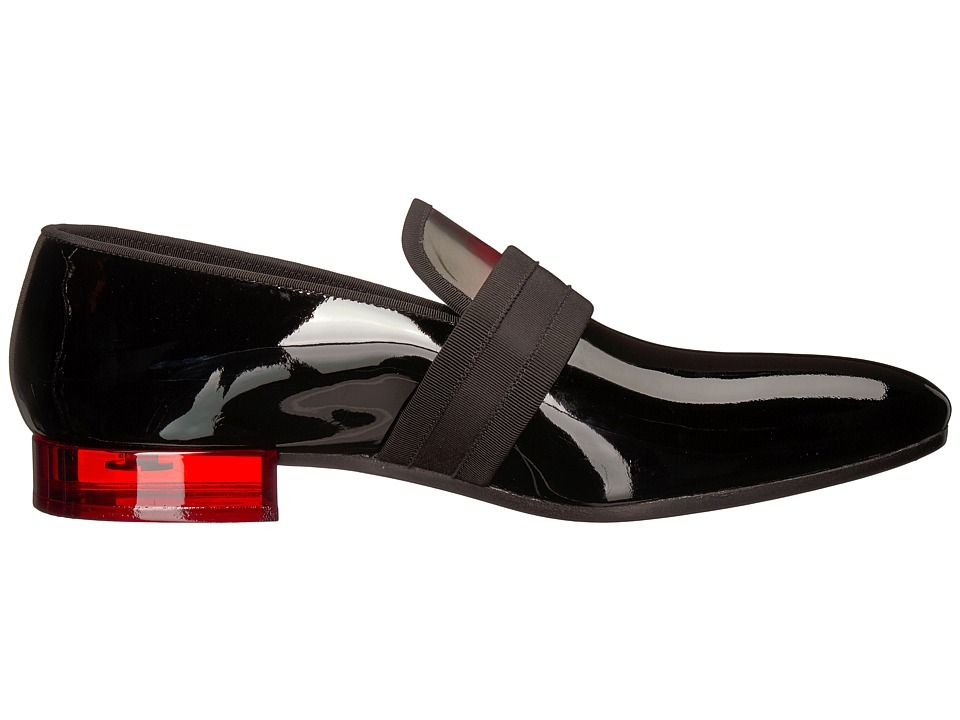 609a7b338e7 Alexander McQueen Plexi Heel Loafer Men s Slip on Shoes Black Red ...