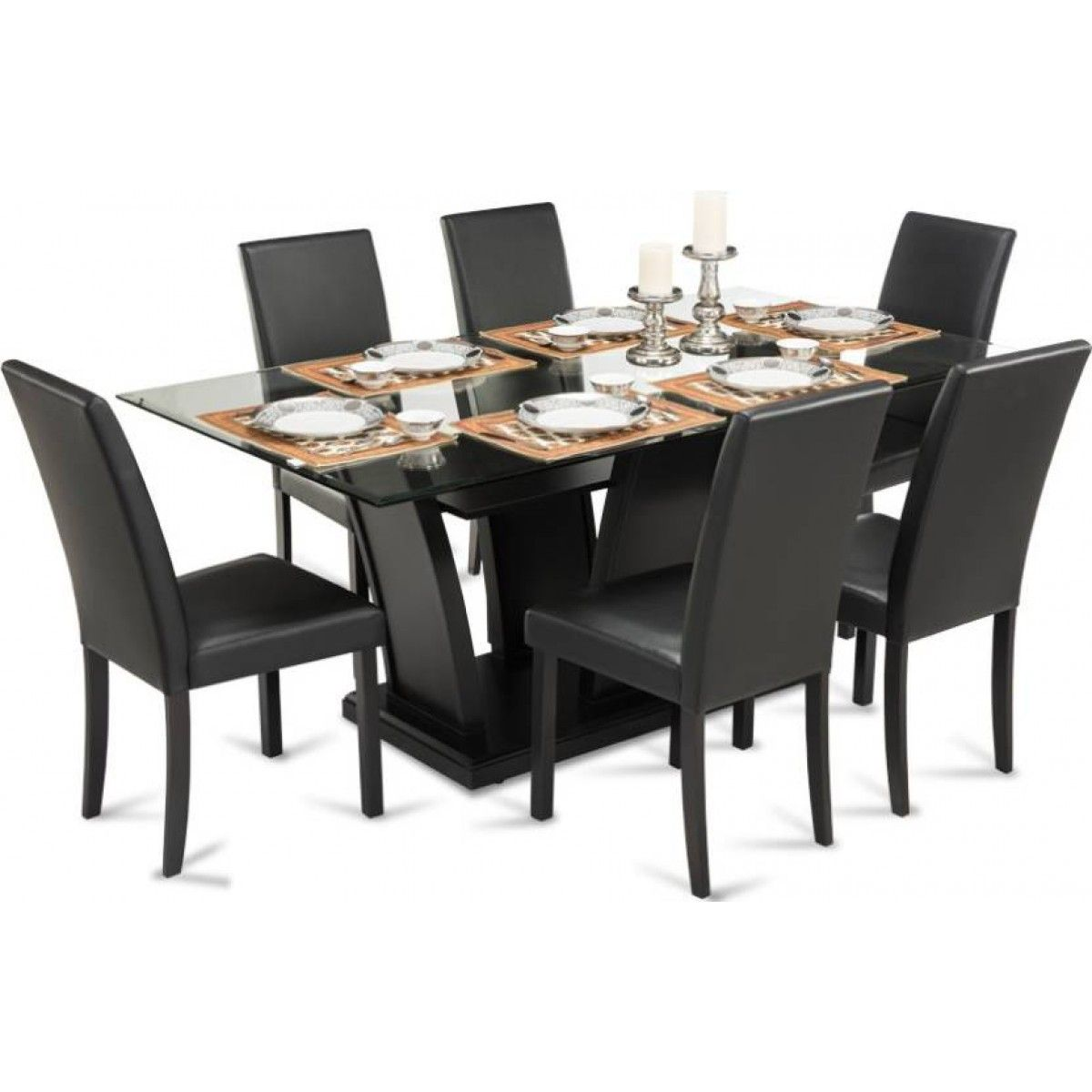 Fraser Glass Dining Table Set Glass Dining Table Set Glass
