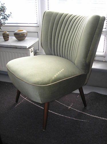cocktailsessel sessel gr n 50er jahre zu nierentisch und t tenlampe sessel pinterest. Black Bedroom Furniture Sets. Home Design Ideas