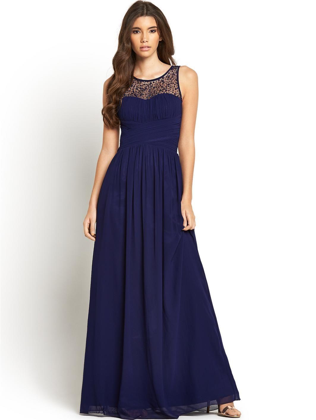 Embellished maxi dress maxi dresses dress designs and prom embellished maxi dress navy bridesmaid ombrellifo Images
