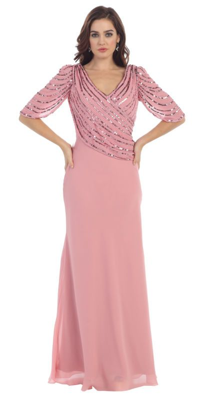 8 colors formal occasion lovely mother of bride / groom dress ...