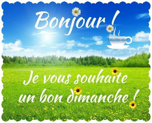 Bonjour Je Vous Souhaite Un Bon Dimanche Dimanche