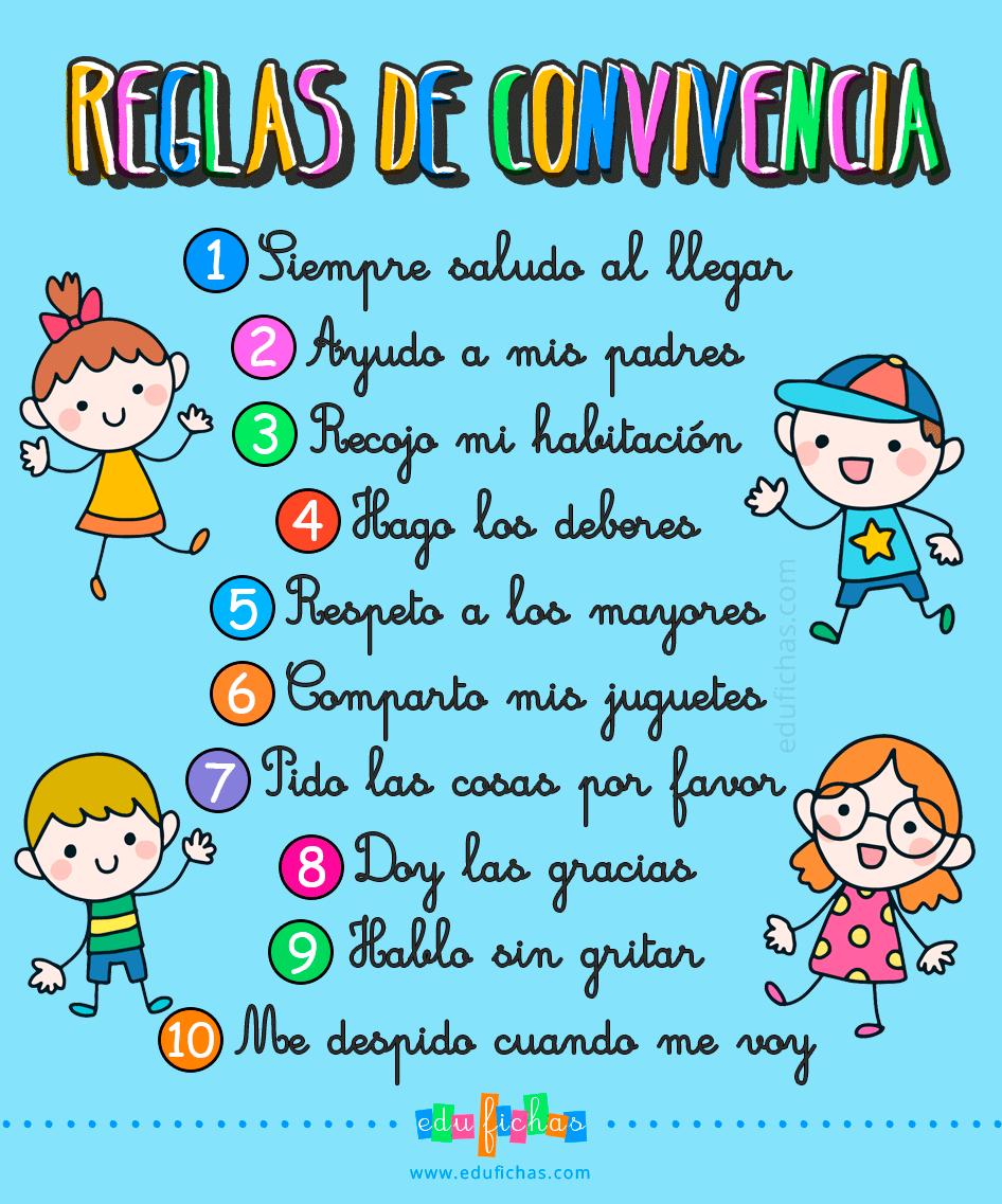 Reglas De Convivencia En Casa Responsabilidad Para Niños Respeto A Los Niños Educacion Emocional Infantil
