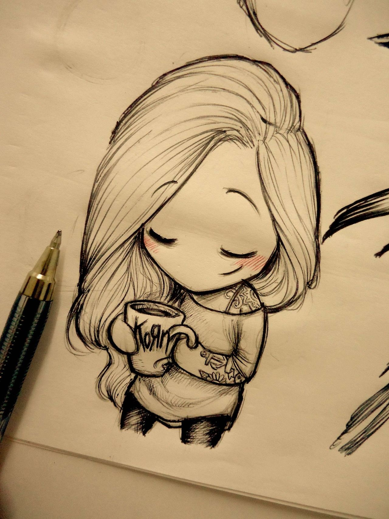 Untitled Girly Drawings Girl Drawing Sketches Girly Art