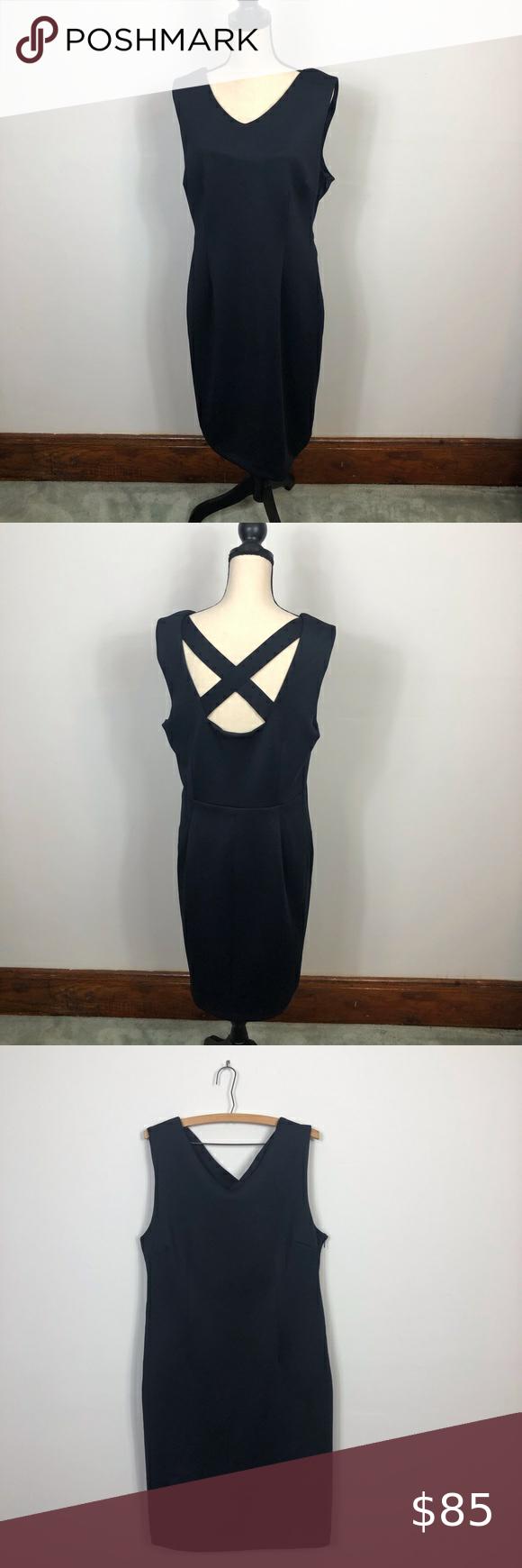 T Tahari Dark Blue Sleeveless Dress Size 14 Blue Sleeveless Dress Clothes Design Size 14 Dresses [ 1740 x 580 Pixel ]