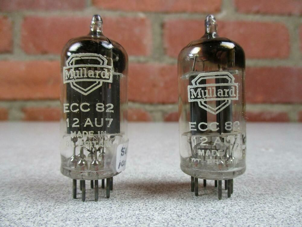 Mullard 12au7 Ecc82 Vacuum Tube Code Match Pair Double Post Square Getter Mullard Vacuum Tube Vacuums Tube
