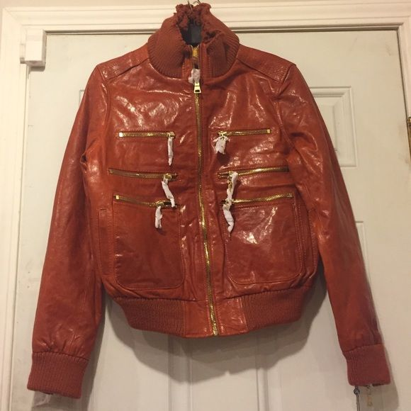 bc43bb974 Leather Jacket (New) by Knoles & Carter Lamb Skin, Color- Hennessy ...