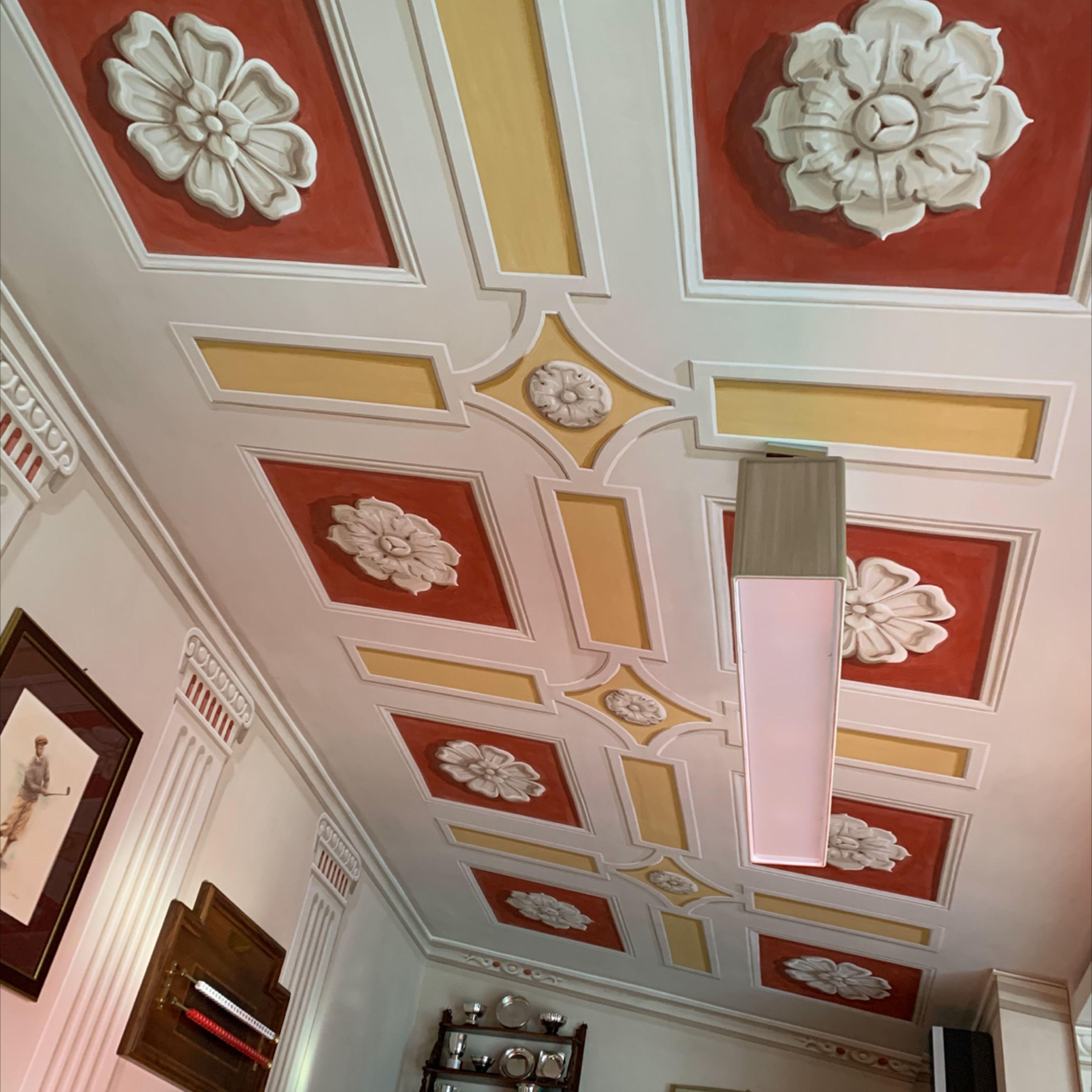soffitto dipinto | Soffitto dipinto, Soffitto a cassettoni ...