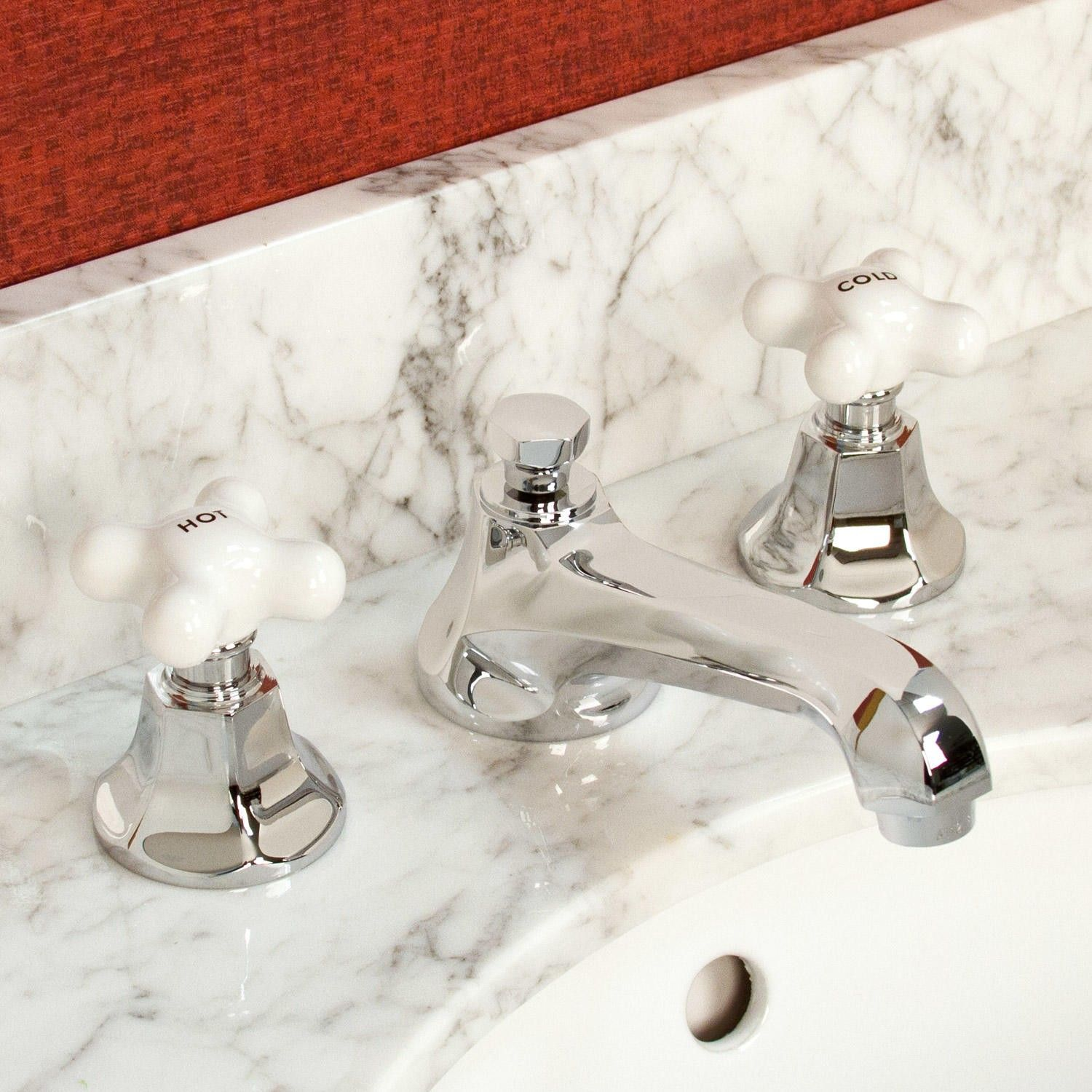 New+York+Widespread+Bathroom+Faucet+-+Small+Porcelain+Cross+ ...