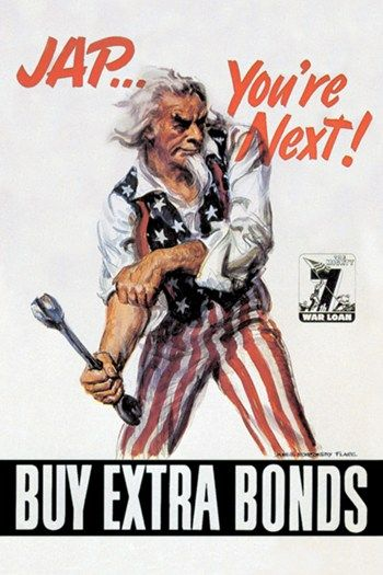 24x36 Uncle Sam Youre Next WWii US Army Vintage Poster