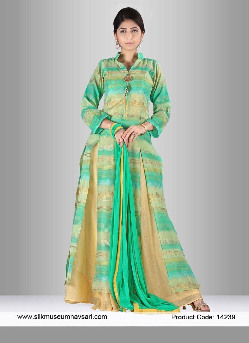 Aesthetic Silk Print Indo Western