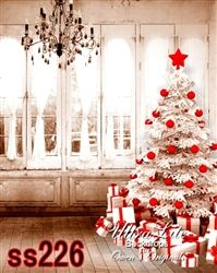 Christmas White And Red Tree Ultralite Backdrop With Images Christmas Photography Christmas Backdrops Christmas Photography Backdrops