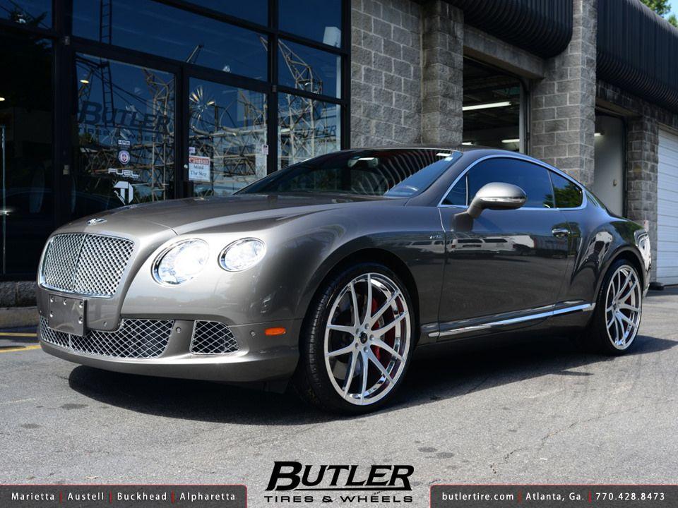 Bentley Gt With 22in Savini Sv40m Wheels Bentley Gt Bentley Car Bentley Continental