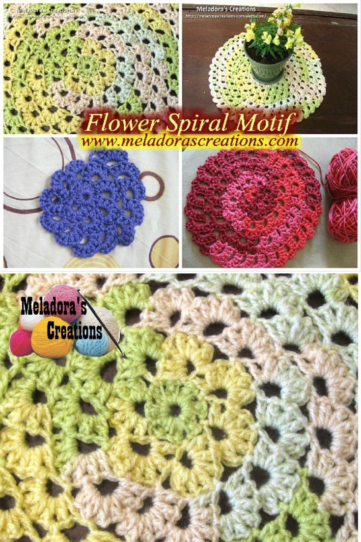 Spiral Crochet Pattern Custom Decorating Design
