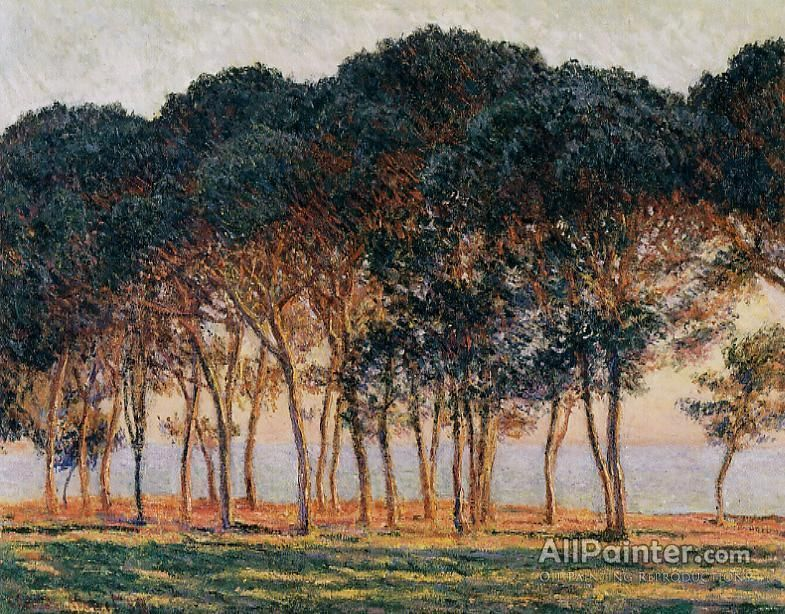 Claude Monet Under The Pine Trees At The End Of The Day oil painting reproductions for sale