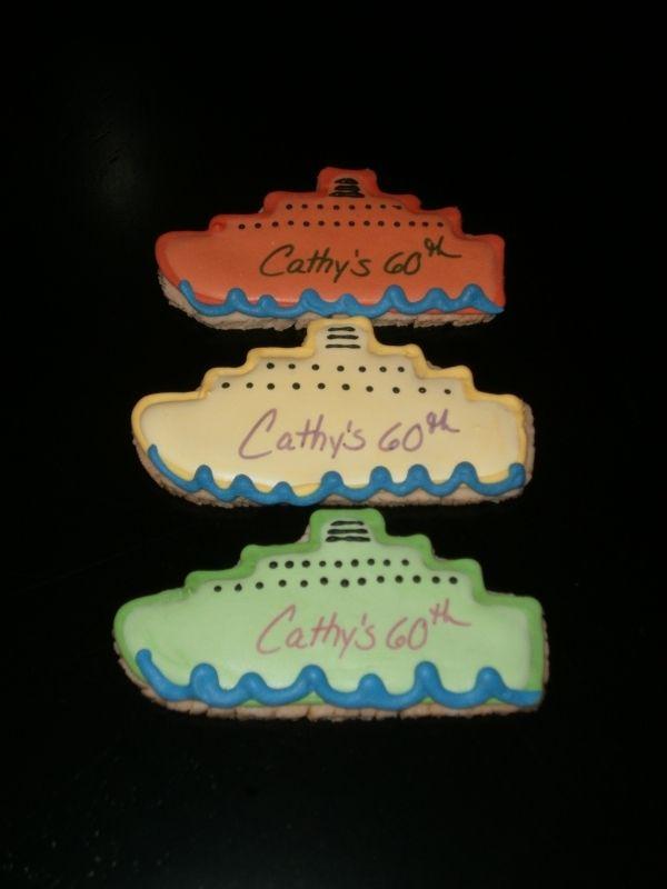 Cruise Ship Cookies Delicious Treats Pinterest Cake Fun food