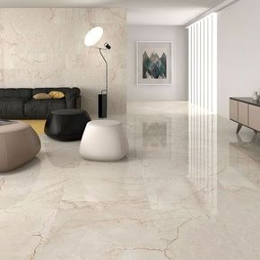 Classic Cream Gloss Floor Tiles Have A Lovely Marble Effect Finish