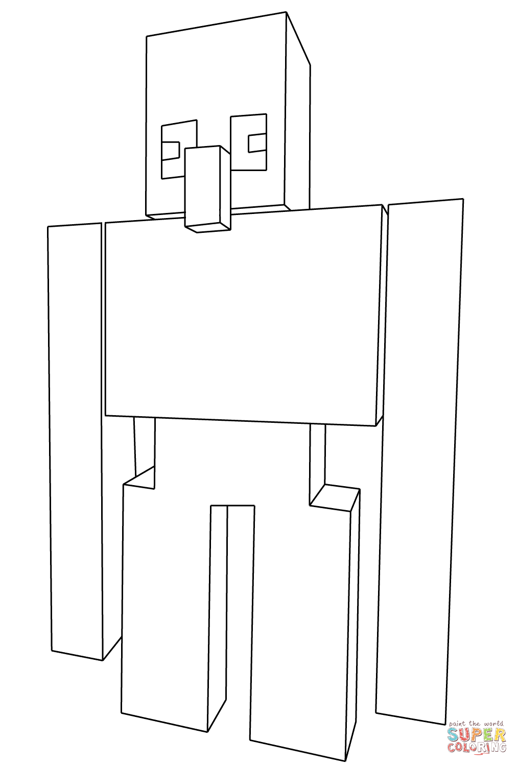 Pin On Minecraft Coloring Pages