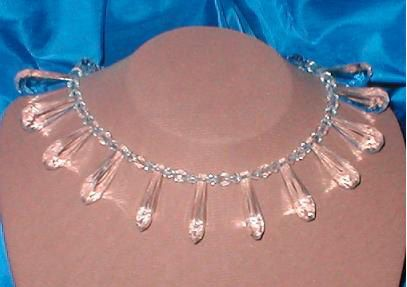 Crystal and Lucite Choker by yesteryearglam on Etsy, $39.95