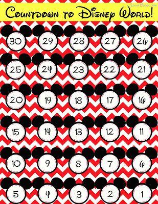Free countdown to Disney World printable (from @Jenna @ JennaBlogs