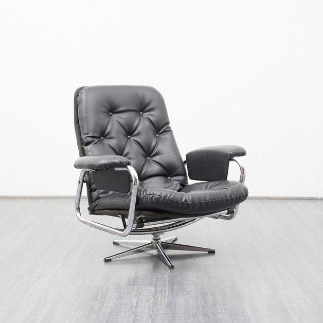 Vintage Sessel - Lässiger 60er Jahre Lounge Sessel - ein Designerstück von Velvet-Point bei DaWanda