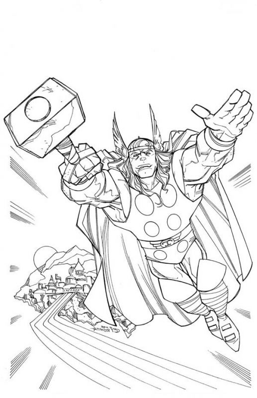 Thor Avengers superhero coloring pages for kids | Superheroes ...