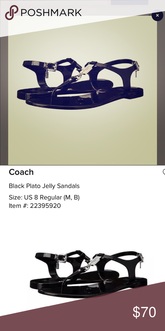 2b3548e4c5d COACH PLATO JELLY WOMENS SIZE 8. I ve only worn these a few times....very  good condition Coach Shoes Sandals