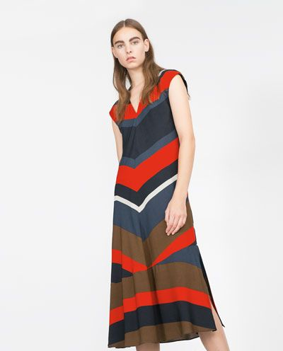 719e2aa1 Image 3 of STRIPED DRESS from Zara | Fashion | Dresses, Striped ...