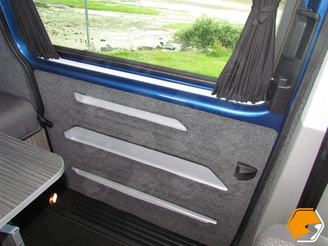 Triple Door Storage Pocket Campervan Parts Uk Camper Van Conversion Diy Campervan Interior Vw Conversions