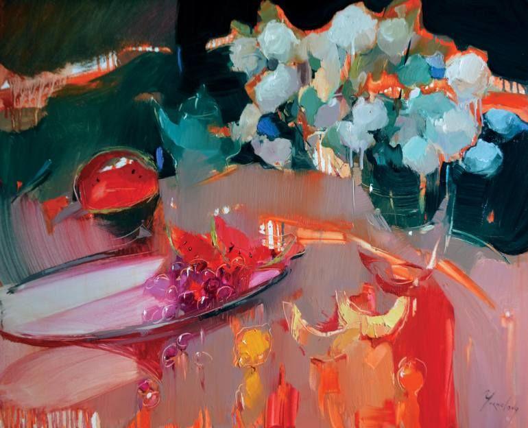 """Saatchi Art Artist Iryna Yermolova; Painting, """"Autumn dreams"""" #art"""