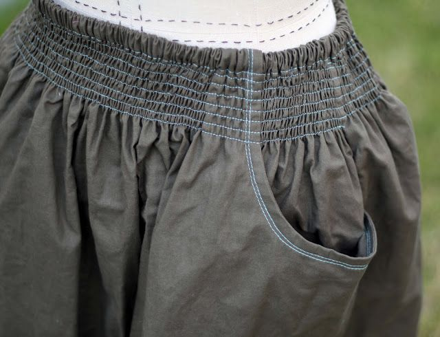 Shirred Pocket Skirt
