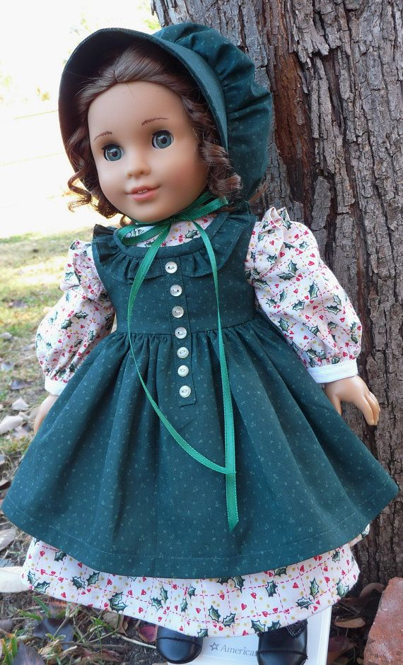 18 Doll Clothes Pairie Dress and Bonnet For by Designed4Dolls
