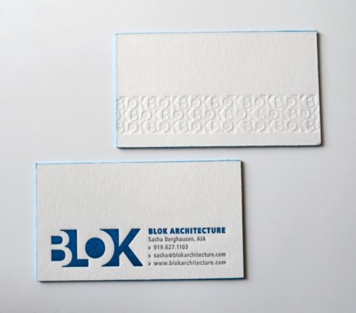 Memorable branding creating an embossed tile of your business creative business card for blok architecure like the edge coating reheart Choice Image