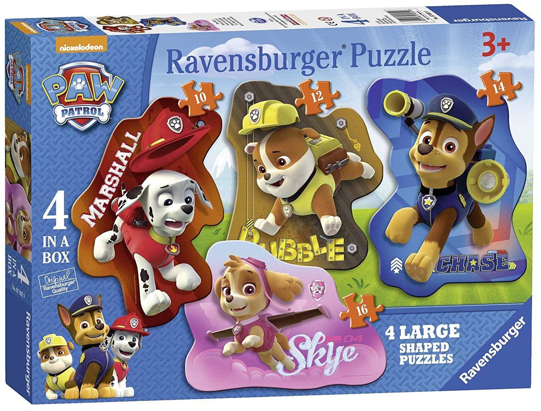 Paw Patrol Rompecabezas 4 En 1 Ravensburger 07032 Amazon Es Juguetes Y Juegos Patrulla Canina Juguetes Para Niñas Juguetes