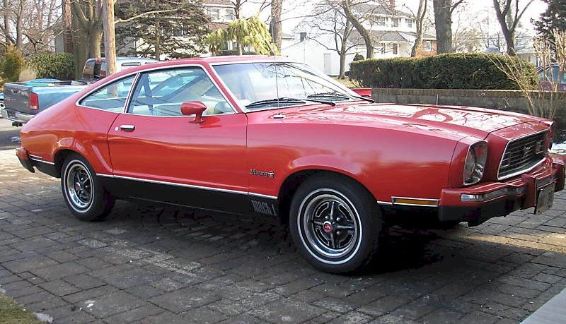 Bright Red 74 Mustang Ii Mach 1 Like The First One I Ever Drove