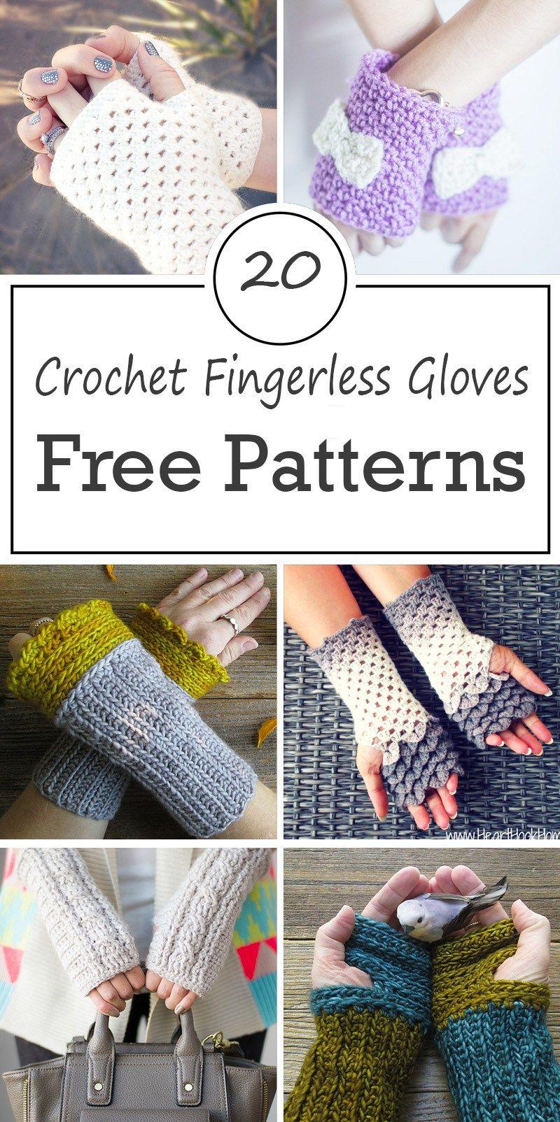 Crochet Fingerless Gloves Free Patterns | Stricken, Wolle und Häkeln