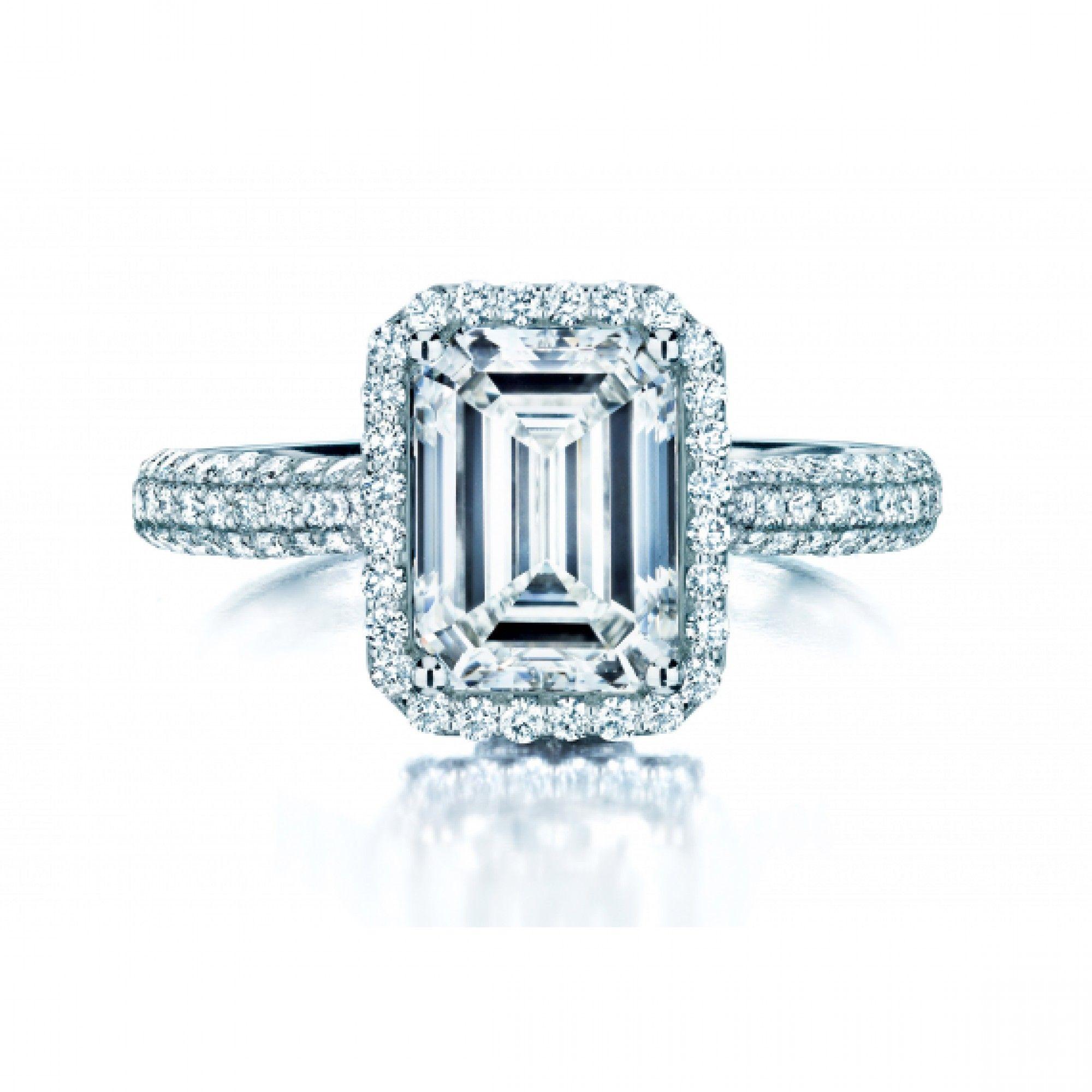 Ring · Birks Square Phillips® Platinum Emeraldcut Diamond