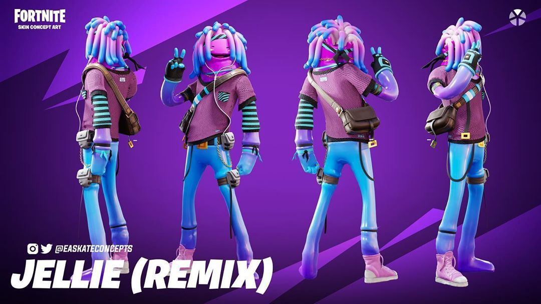 Fortnite V Bucks Free Jellie Remix Skin Concept In 2020 Skin Images Concept Art Cyber Ninja