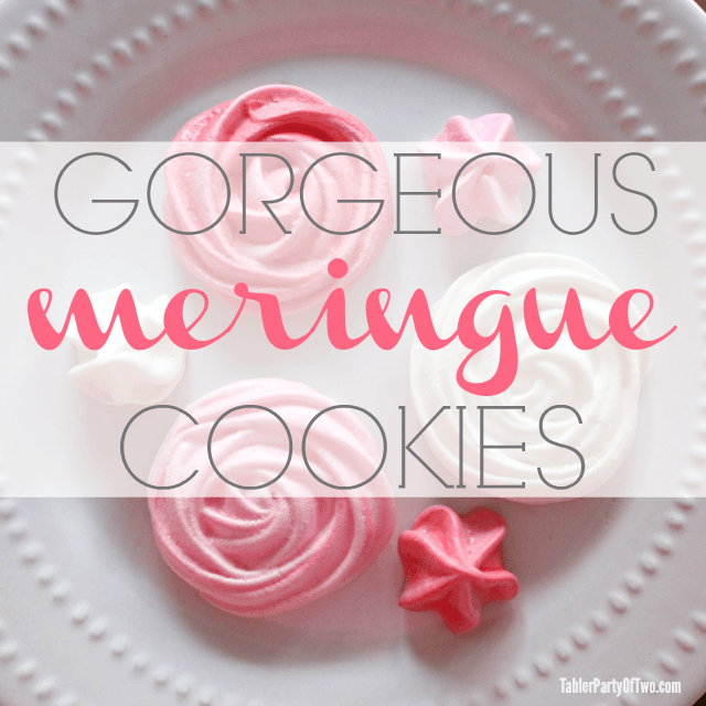 These Meringue Cookies are perfect for that special someone on Valentine's Day! I heart Valentine's Day. I really do! Maybe one reason is that my handsome h
