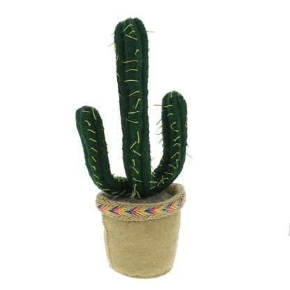 Dark Green Cactus Pot is part of Green Home Accessories Cactus - Description  Made by hand of ecofriendly wool felt Modern, fun and quirky decoration 100% polyester fill Freestanding Due to handmade nature, variations in each accessory are to be expected Dimensions 15″ H x 6″ W By Fiona Walker England