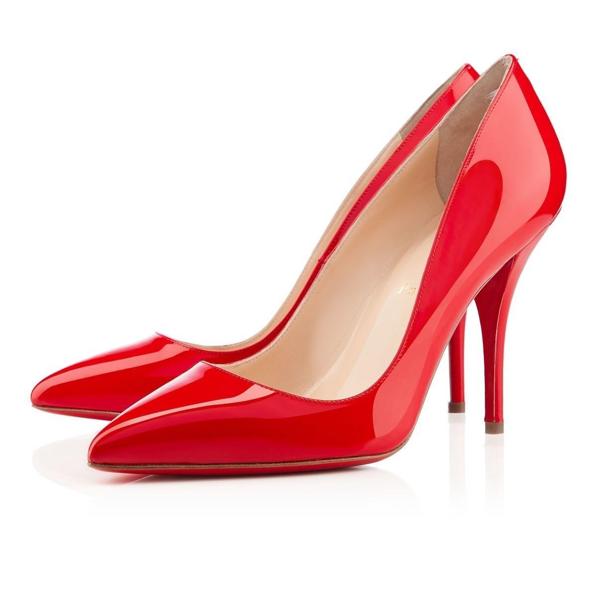4efa099d570 Chaussure Louboutin Pas Cher Pompe Batignolles 100mm Rouge Lipstick5   shoesforwomen
