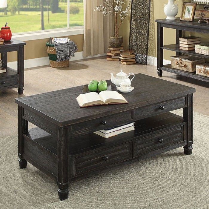 cm4615bk c suzette antique black finish wood coffee table on stunning wooden metal coffee table id=72507